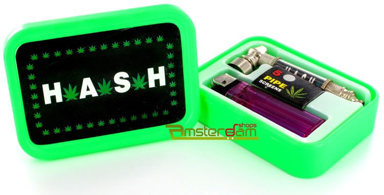 Gift set tobacco stash box HASH