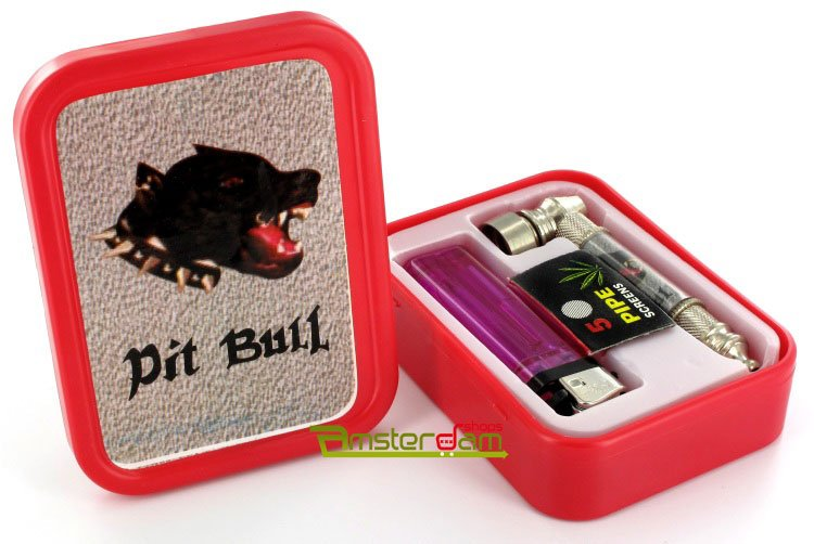 Gift set tobacco stash box Pitbull