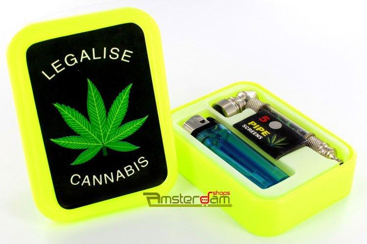 Gift set tobacco stash box