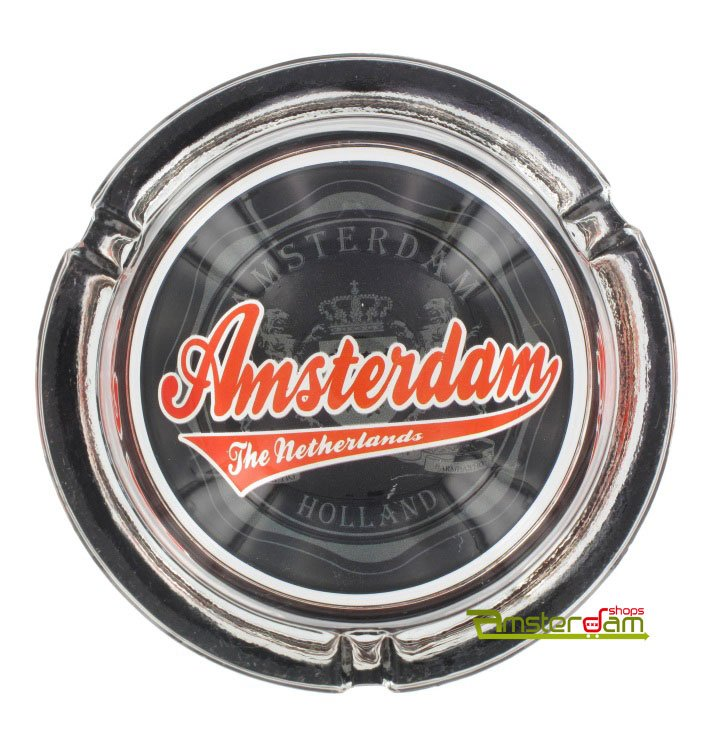 Ashtray with the text Amsterdam