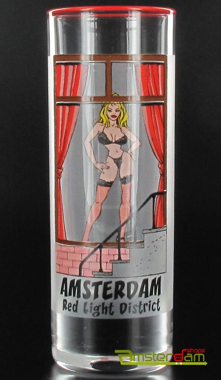 Vodka cylinder Red Light Girl Amsterdam