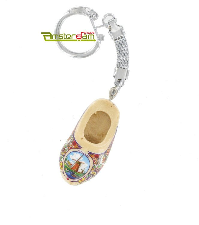 KEYCHAIN 1 WOODEN SHOE LACQUER / MILL