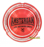Ashtray red with logo Amsterdam from the Netherlands