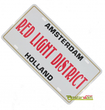LICENCEPLATE RED LIGHT DISTRICT WHITE