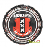 Ashtray with the logo from Amsterdam the Netherlands