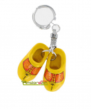 KEYCHAIN 2 WOODEN SHOES 4 CM FARMERS DECOR