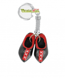 KEYCHAIN 2 WOODEN SHOES BLACK XXX